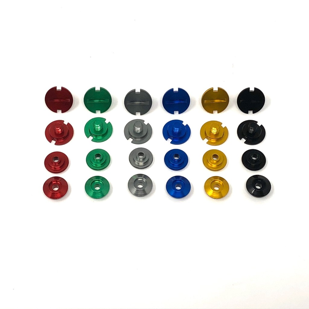Shield Pivot Kit to fit ZAMP RZ Series Helmets 4pc Kit Anodized black